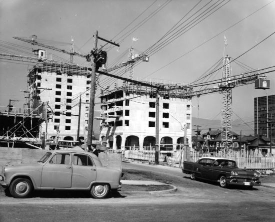 Pacific Palisades In Construction - 1966